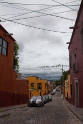 street view with clouds