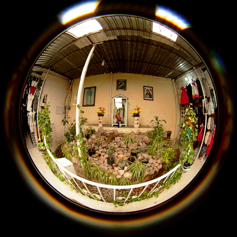 virgen de guadeloupe shrine in the mercado