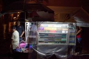 cigarettes on a rainy night