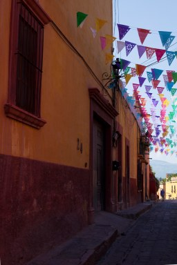 flags and street