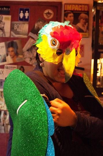 matilde in her parrot costume