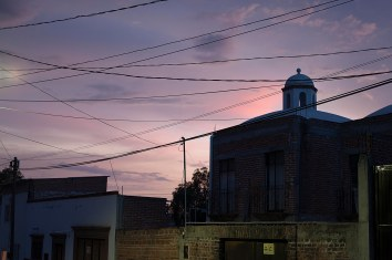 purple twilight street