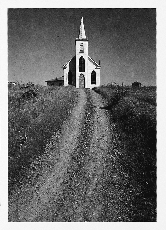 ansel adams 1953 church and road