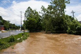 taken from the Biltmore Ave bridge facing east