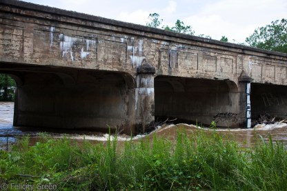 also the railroad bridge on the way to Emma